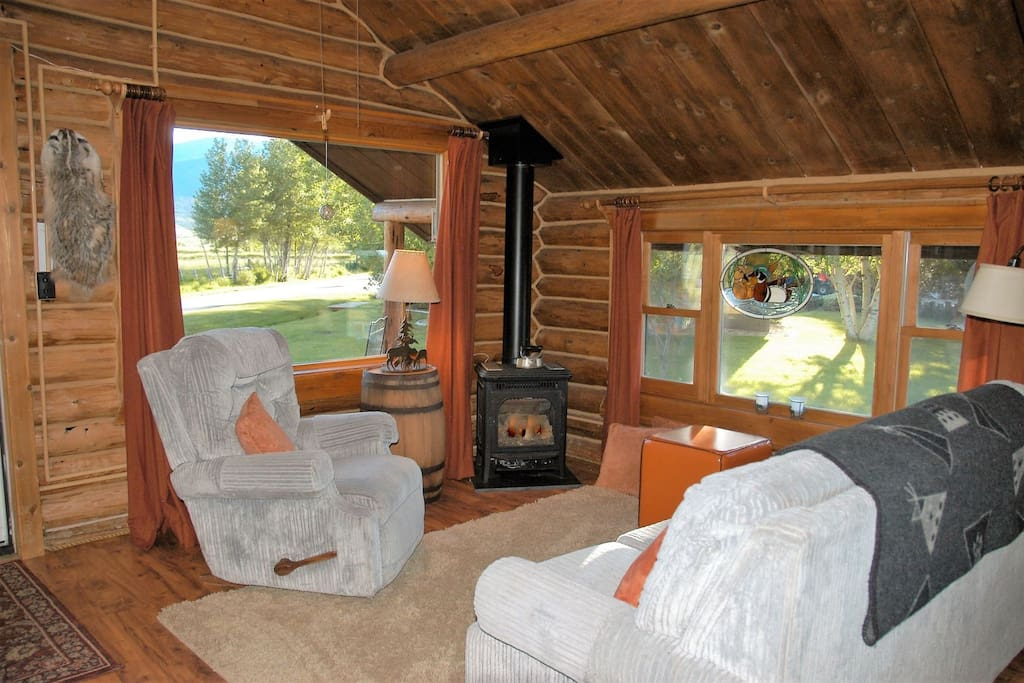 Cozy up with a gas fireplace