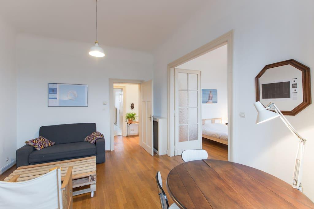 Salon et canapé-lit