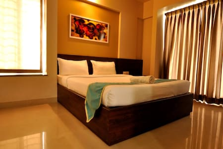 #Sanitized,Stylish AC bedroom and kitchen@Kharadi