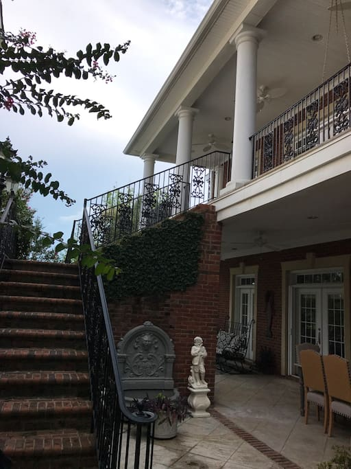 Front stairs to porch