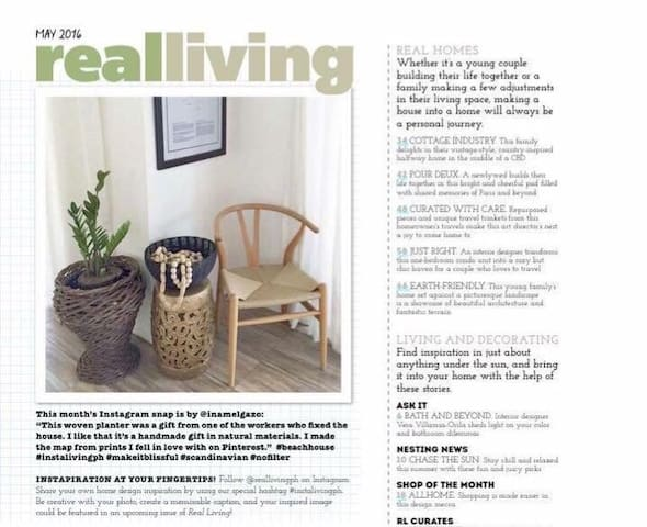 Our cozy little corner (rearranged since) featured by real living philippines