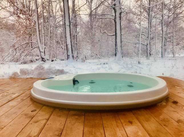 Cabin in the Woods with Hot Tub and Gas Fireplace!