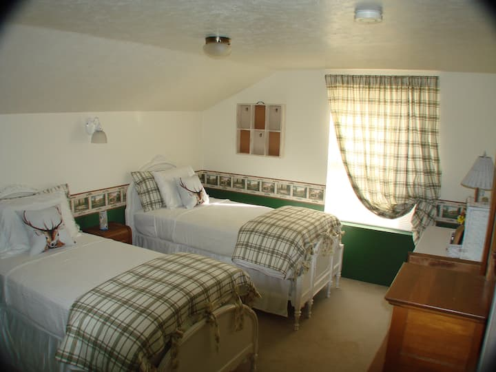 The Plumbfield room at Victorian Lane B&B
