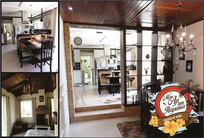 Casa Enorme em Itapema para Famílias 12 pessoas!