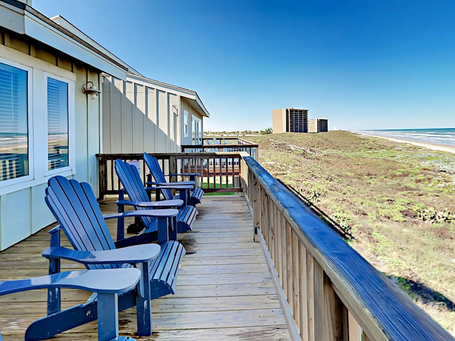 Breathe the fresh coastal air from your 2nd-story deck equipped with 4 Adirondack chairs.