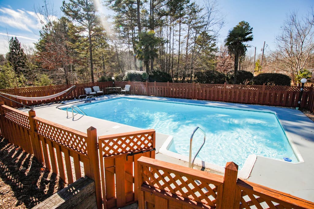 Enjoy our pool in front of the house