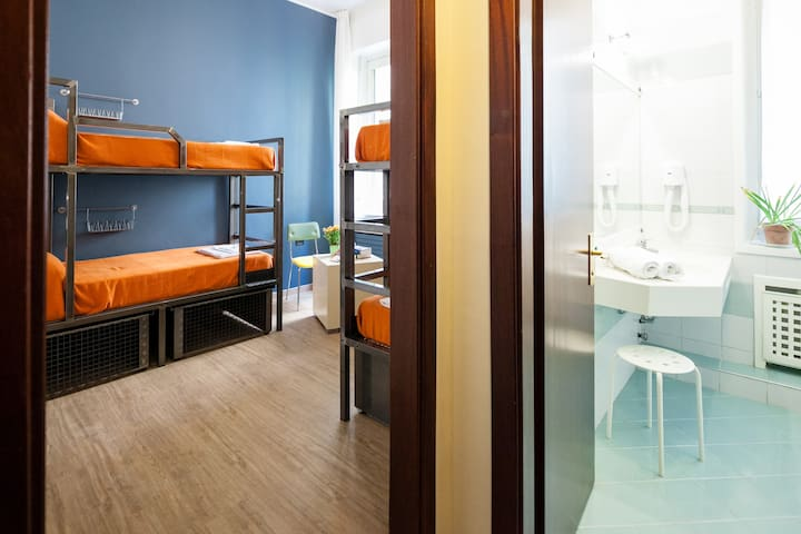 Bed in 5 bed mixed dorm @ Ostello Bello Grande
