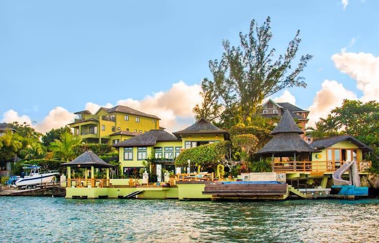 Luxury modern Japanese themed seaside villa.