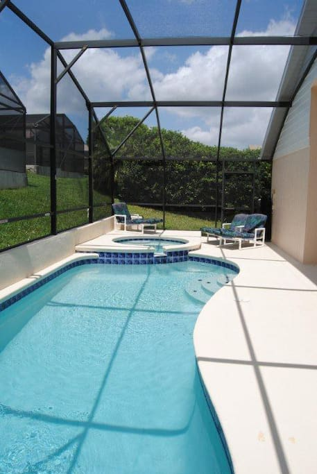 Our private pool and spa can be heated for your added enjoyment