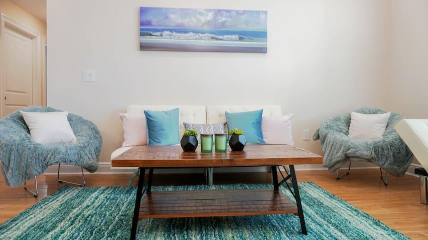 Living Room. Sleeper sofa for 2.