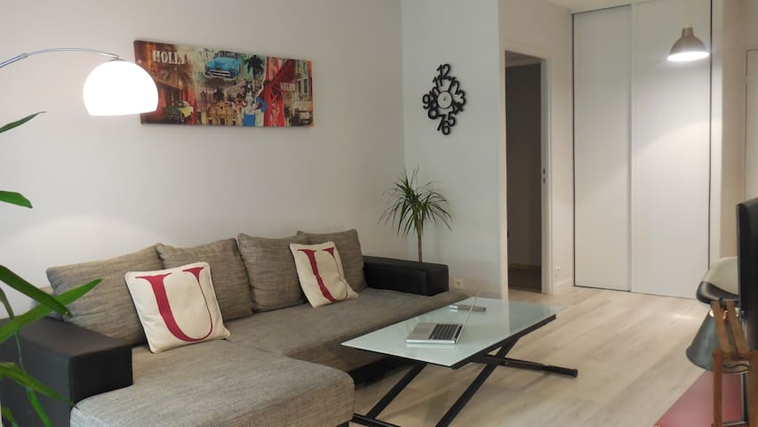 Nice appartment, large sunny terrace, 20min Paris - Villennes-sur-Seine - Lejlighed