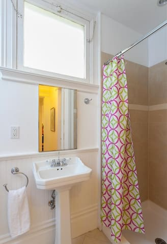 Guest shower and toilet.