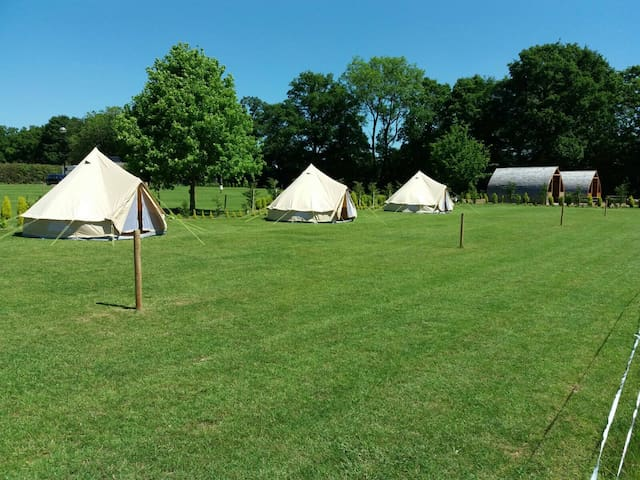 Bell Tent Glamping at Long Acres