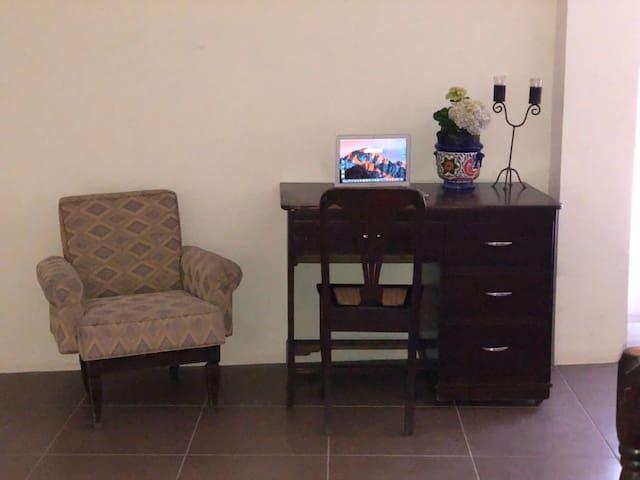 work area at mezzanine