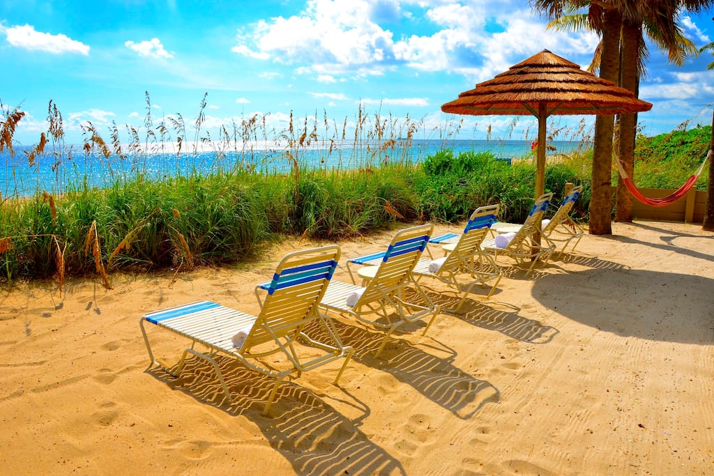 Seaward Features Spectacular (Private) Beach Area Offers Chaise Lounges + Breathtaking Views...