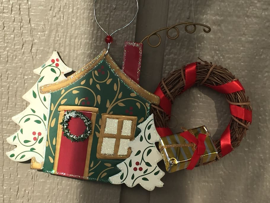 Holiday Ornaments to greet you at the home!  Come celebrate responsibly here!
