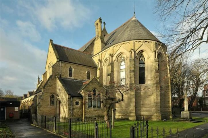Quirky Whalley Range apartment in a former church