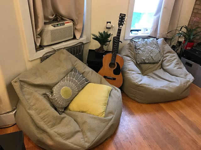 Bean bags! Guitar! Oh my!