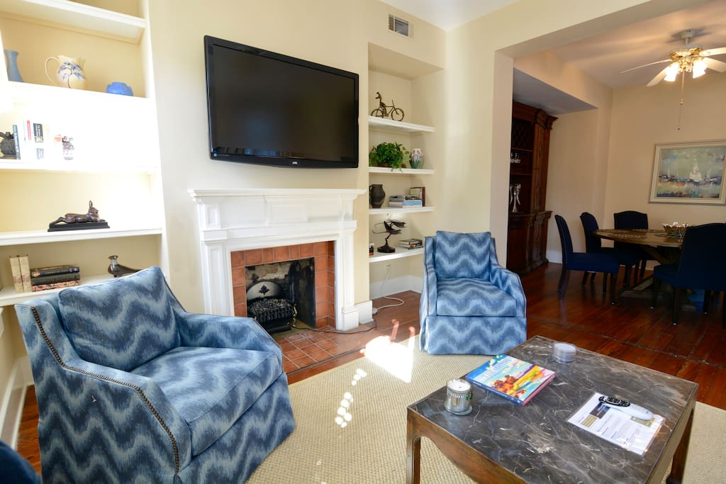 """Living Room (with 55"""" HDTV)"""