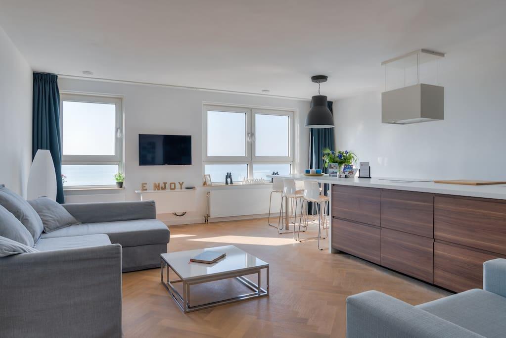 sea view appartement on the beach wohnungen zur miete in den haag zuid holland niederlande. Black Bedroom Furniture Sets. Home Design Ideas