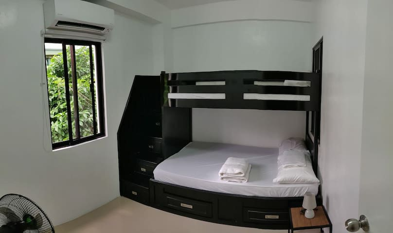 Bedroom 2 (bunk bed) double and Single.  Room will be closed if guests booked is only for 1.