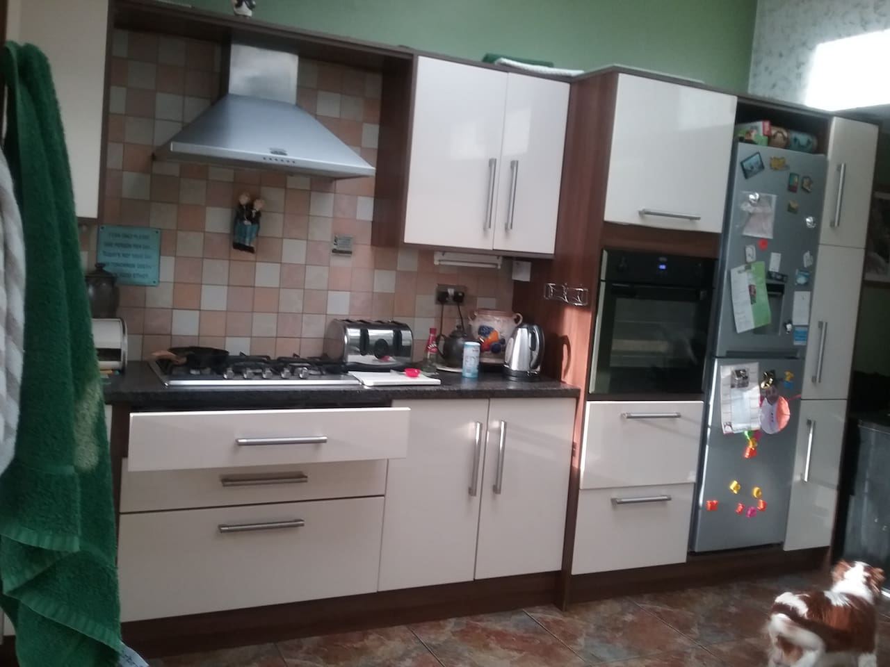 Kitchen area - guests are welcome to cook at agreed times on the day.