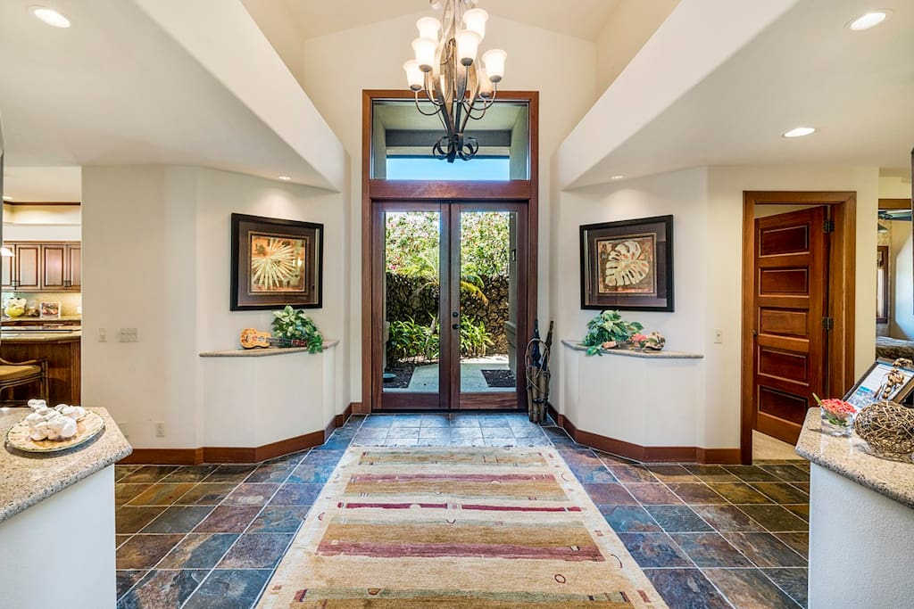 Make a grand entrance in the stunning foyer!