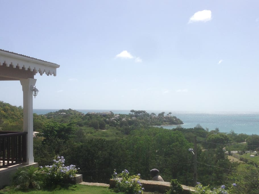 View from Jumby House. 5 minute walk to Valley Church Beach.