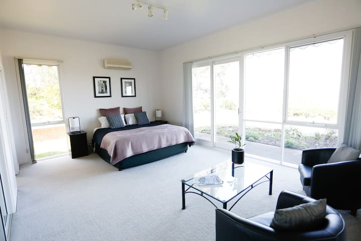 Master bedroom with Mt Buller views