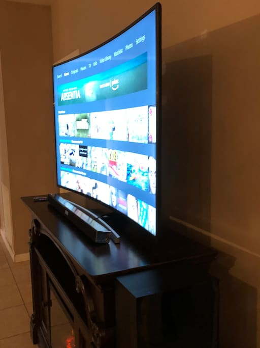 "Curved Samsung 65"" TV with Free Netflix, Amazon Prime Movies and More!"