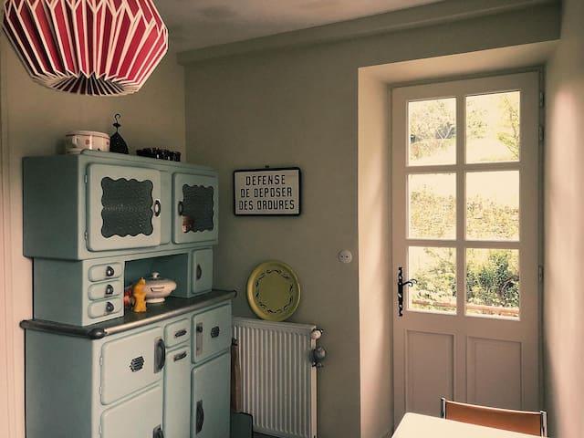Vintage inspired garden apartment