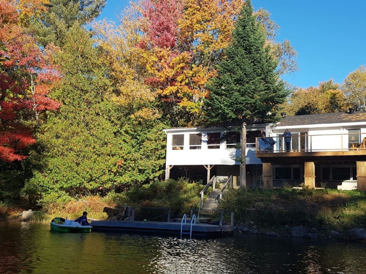 View from the river of our 4 season cottage