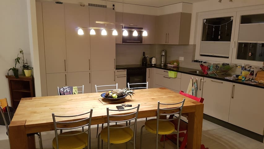 Our kitchen, you can use it if you want.