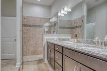 Master Bath with Double Walk-in Shower