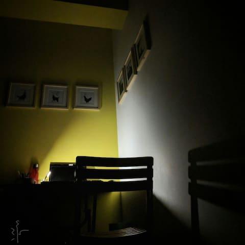Its an artists studio apartment! Explore it...