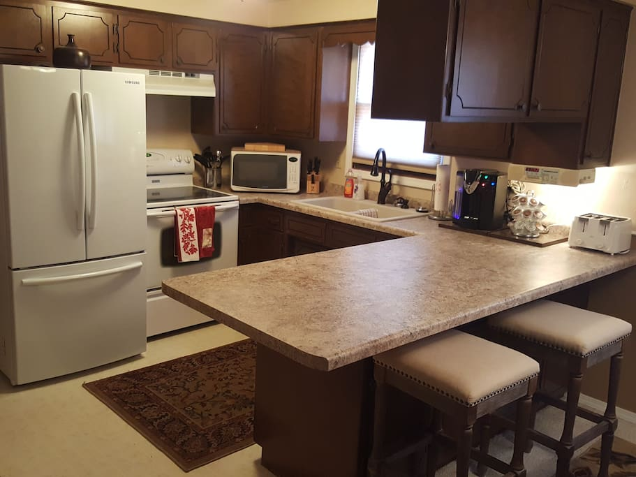 Kitchen complete with New Refrigerator Countertops  / Granite Sink