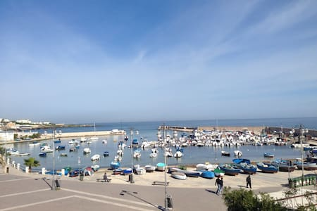 Panoramic sea view on a little port - Бари