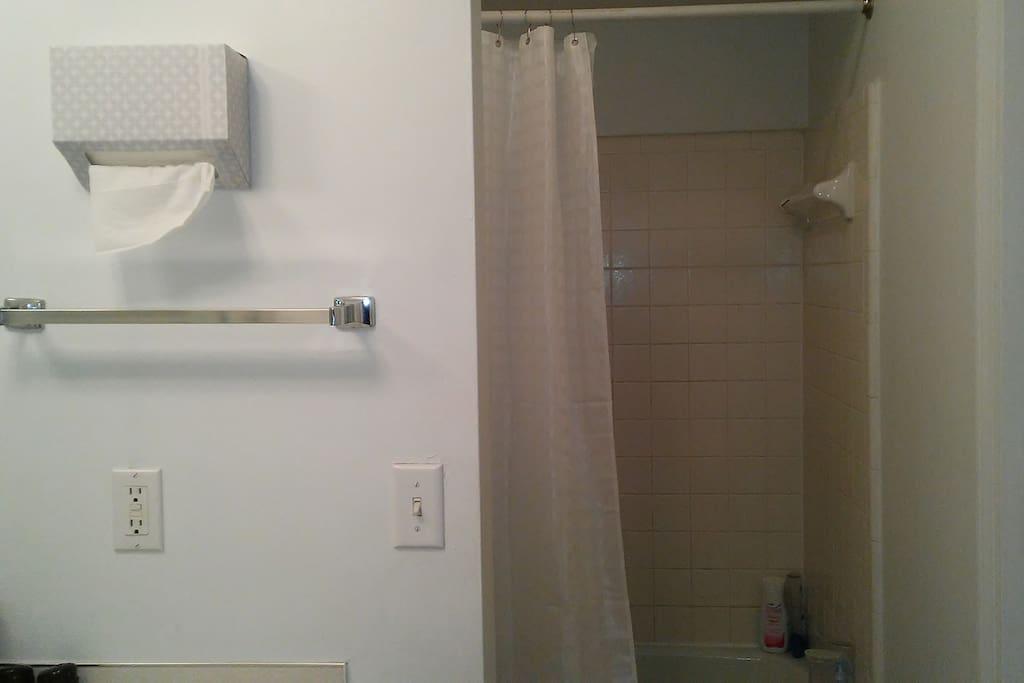 Main bath w/tub & shower