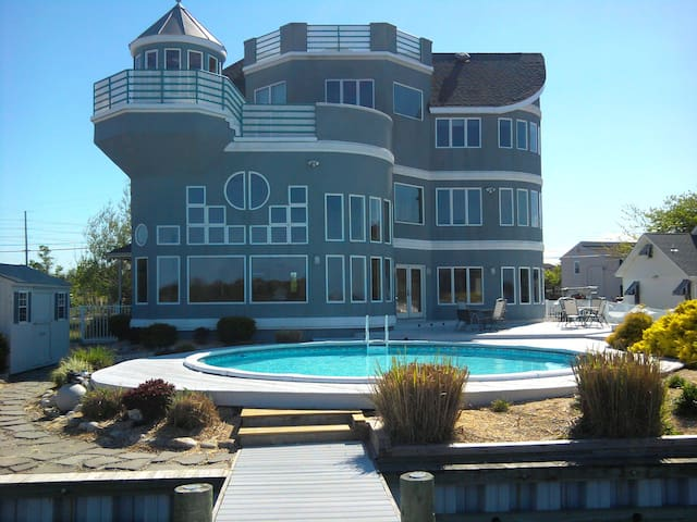 Spectacular Bay Front Home on the Barnegat Bay.