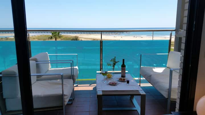 New apartment. Sea front triplex. SALT WATER POOL
