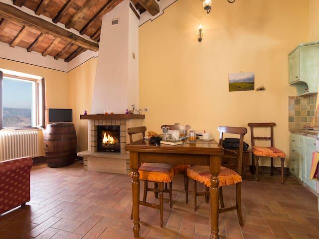 Casa Bandino - Large panoramic 1bdr Val d'Orcia - Campiglia D'orcia - Apartmen