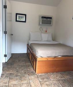Clean, simple room in beautiful setting