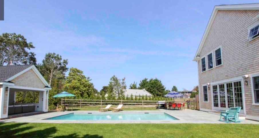 Luxury Edgartown, Martha's Vineyard with a pool!