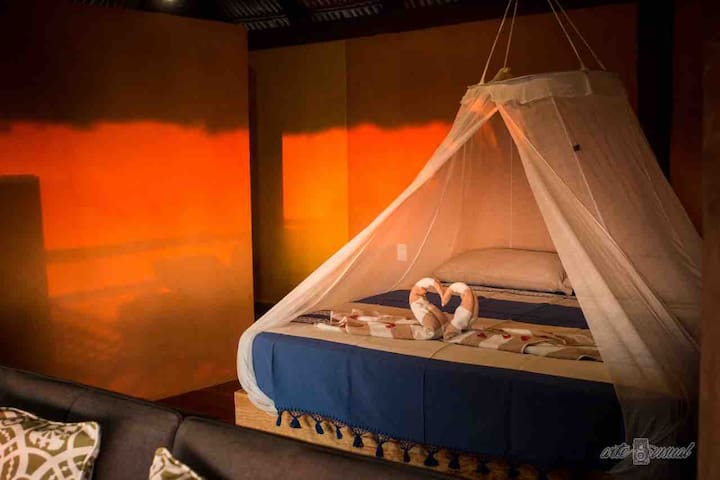 Palapa Suite with a very comfortable King size bed