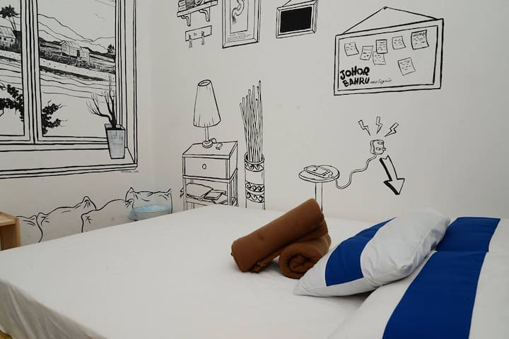 Private Room Near Larkin Bus Sentral - Johor Bahru - Bed & Breakfast