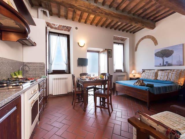 Pia de' Tolomei -Bright studio in residence w/pool - Roccatederighi - Apartment