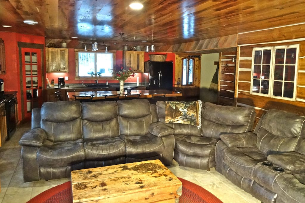 Large seating area for family gatherings