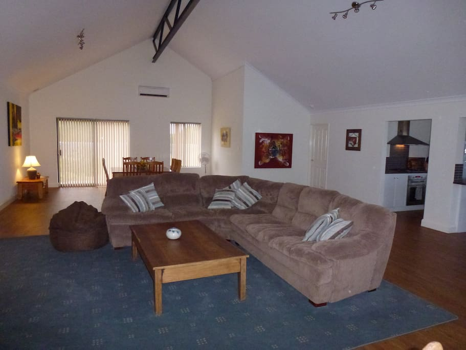 Relax in the spacious and comfy livingroom