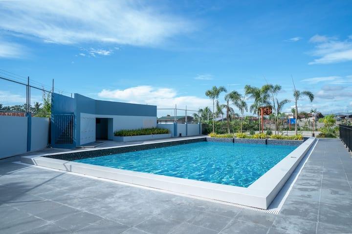 *Brand NEW* outdoor pool & nice oceanview  (18D)