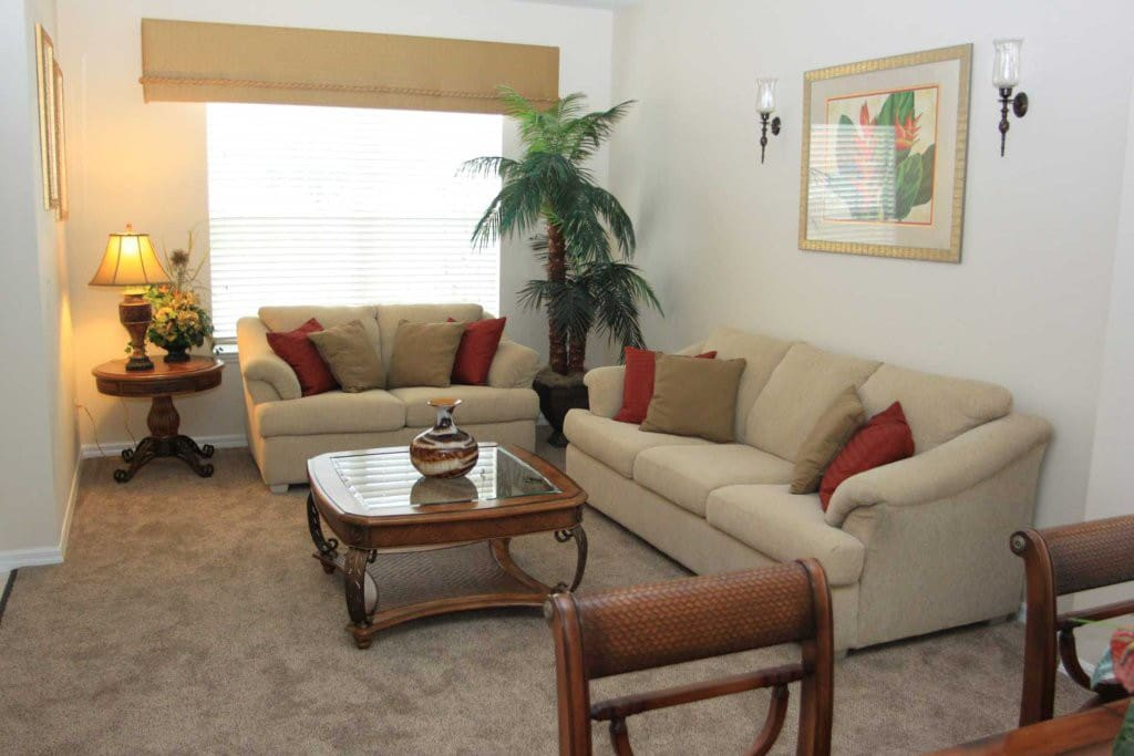 Spacious Comfortable Living Area including a Bed Settee